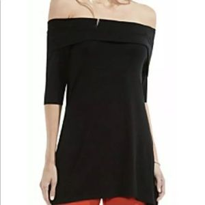 NWT Vince Camuto Jersey Off The Shoulder Blouse
